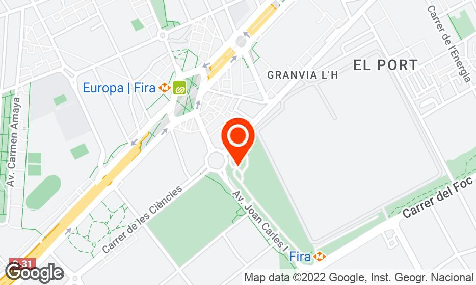 Fira Barcelona - Gran Via location map