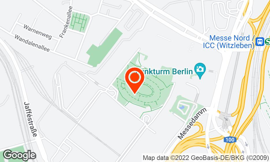 Messe Berlin location map