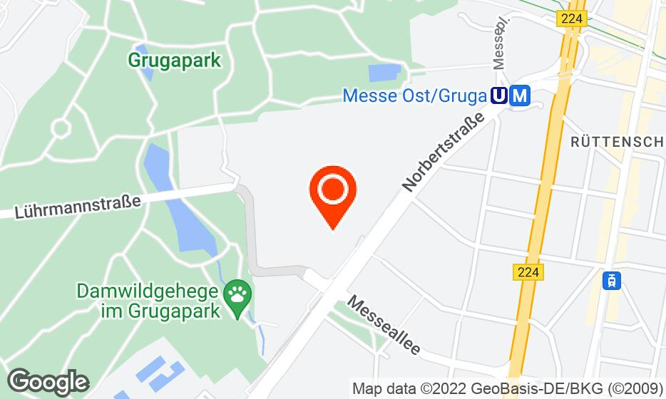 Messe Essen location map