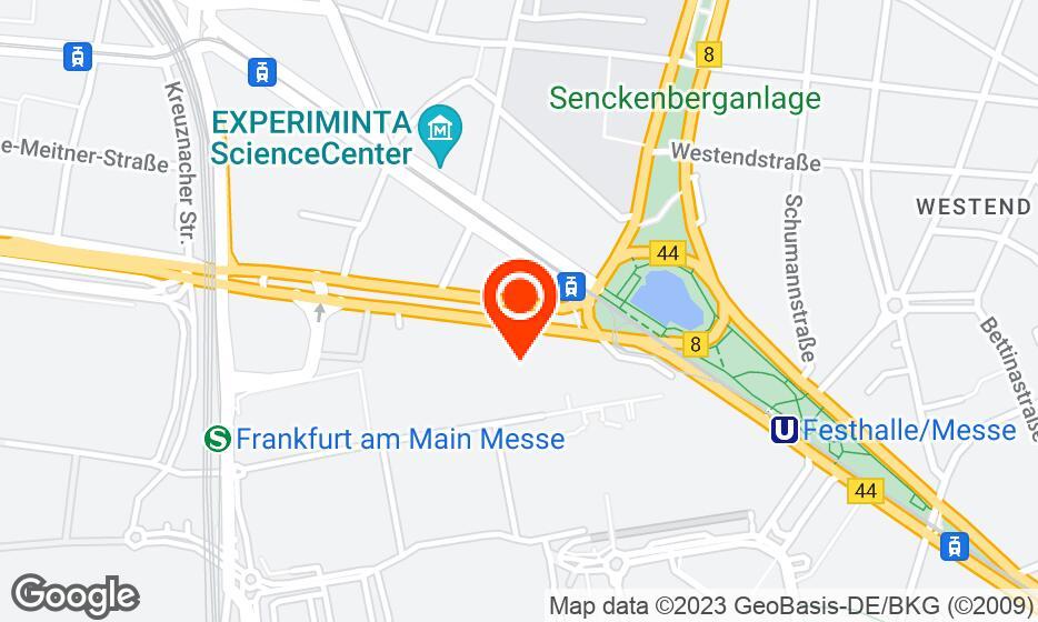 Messe Frankfurt location map
