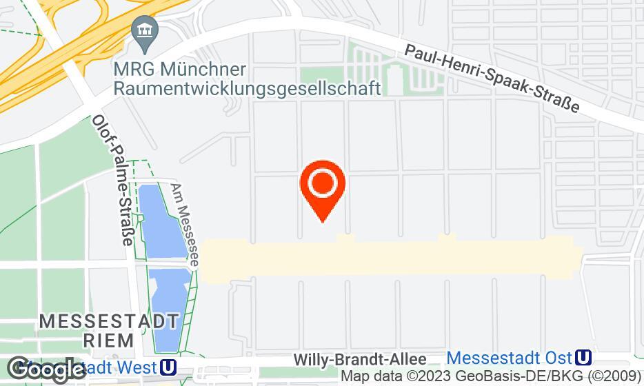 Messe Munich location map