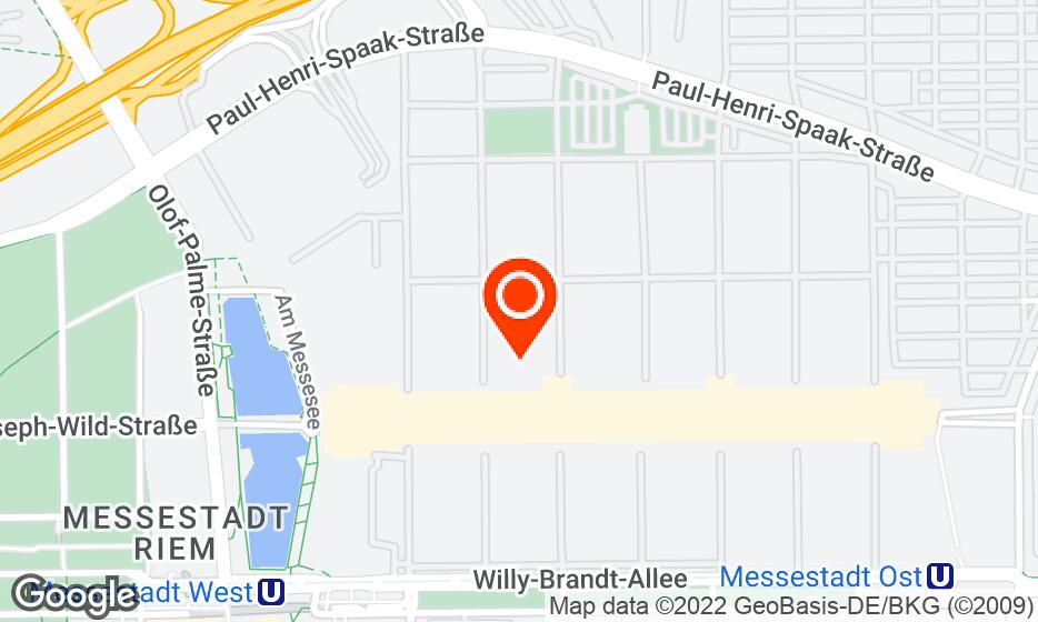 Messe Munich location map