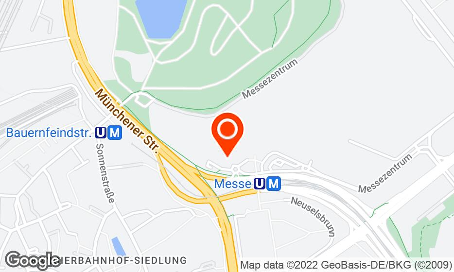 Messe Nuremberg location map