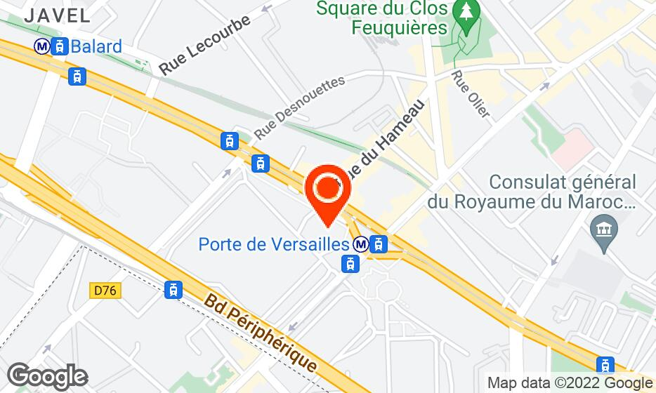 Paris expo Porte de Versailles location map